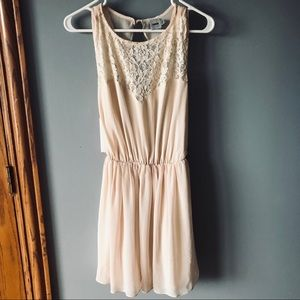 ASOS lace dress - cream